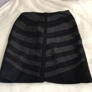 WHBM Black and Charcoal Pencil Pointe Skirt